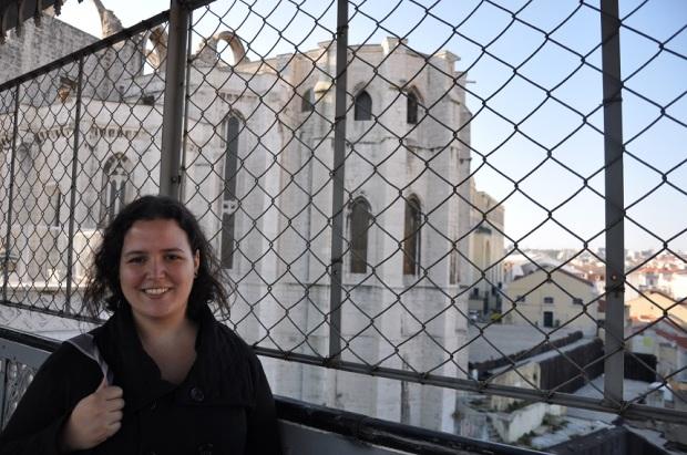 As fotos vistas de cima foram tiradas do topo do elevador de Santa Justa (na verdade, não lembro se cheguei a subir de elevador, porque já estava na parte alta, só subi os andares pra chegar na 'laje').
