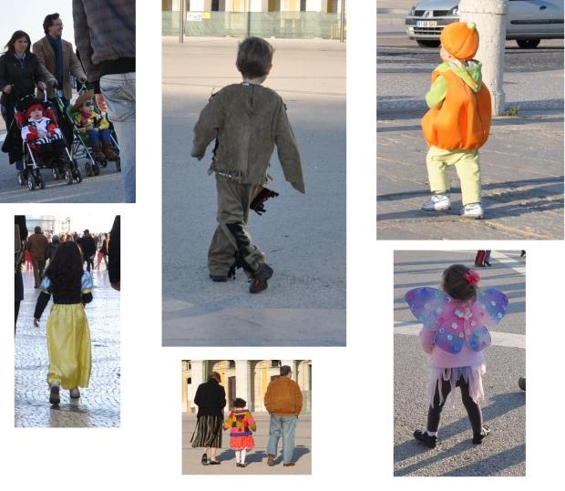 Era carnaval, então vi muitas crianças fantasiadas e fotografei loucamente.
